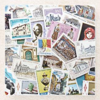 Stamp On Glass Coaster