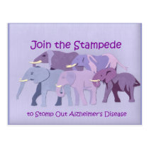 Stamp Out Alzheimer's Postcard