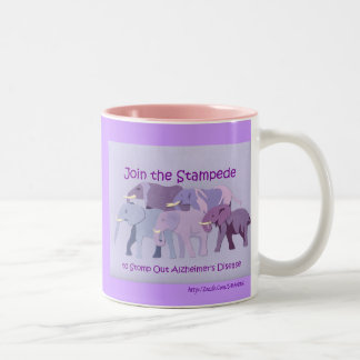 Stamp Out Alzheimer's Two-Tone Coffee Mug