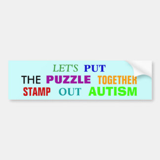 STAMP OUT AUTISM BUMPER STICKERS