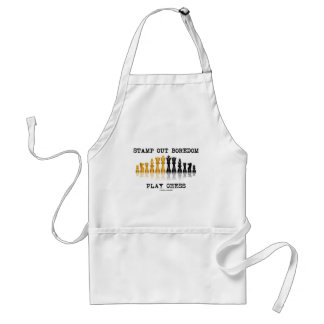 Stamp Out Boredom Play Chess (Chess Set) Adult Apron