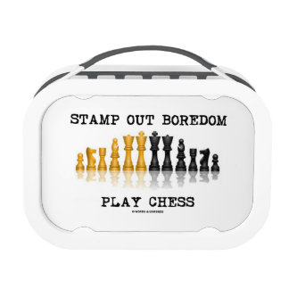 Stamp Out Boredom Play Chess (Chess Set) Lunch Box