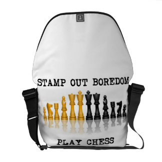 Stamp Out Boredom Play Chess (Reflective Chess) Courier Bag