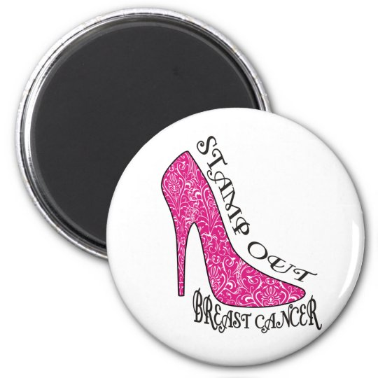Stamp Out Breast Cancer 2 Inch Round Magnet