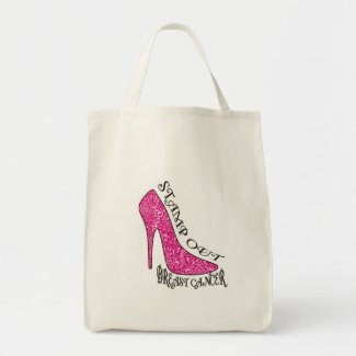 Stamp Out Breast Cancer bag