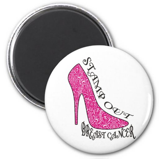 Stamp Out Breast Cancer Fridge Magnet