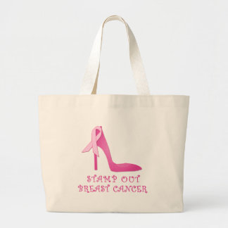 Stamp Out Breast Cancer Products Large Tote Bag