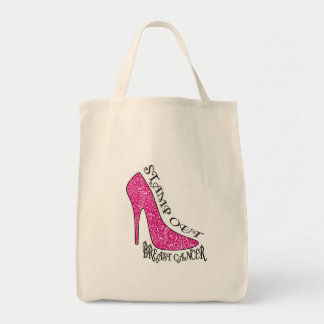 Stamp Out Breast Cancer Tote Bag