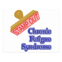 Stamp Out Chronic Fatigue Syndrome Postcard
