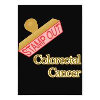 Stamp Out Colorectal Cancer 5x7 Paper Invitation Card