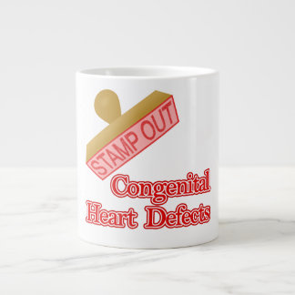Stamp Out Congenital Heart Defects Giant Coffee Mug