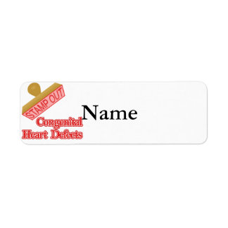 Stamp Out Congenital Heart Defects Label