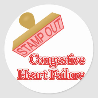 Stamp Out Congestive Heart Failure Classic Round Sticker