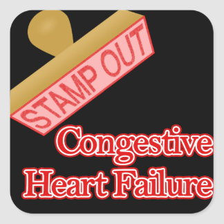 Stamp Out Congestive Heart Failure Square Sticker