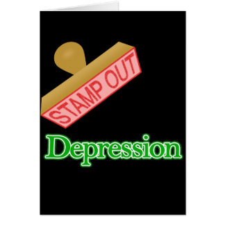 Stamp Out Depression Card