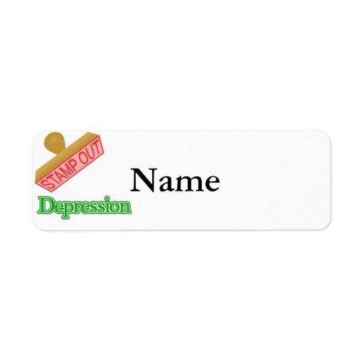 Stamp Out Depression Custom Return Address Labels