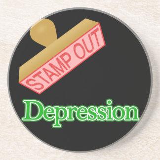 Stamp Out Depression Drink Coaster