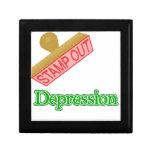 Stamp Out Depression Keepsake Box