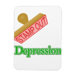 Stamp Out Depression Rectangle Magnets