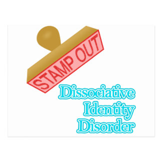 Stamp Out Dissociative Identity Disorder Postcard