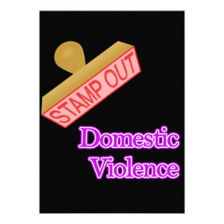 Stamp Out Domestic Violence Personalized Announcements