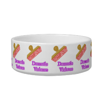 Stamp Out Domestic Violence Pet Water Bowl