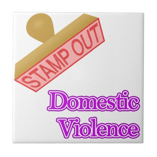 Stamp Out Domestic Violence Ceramic Tiles