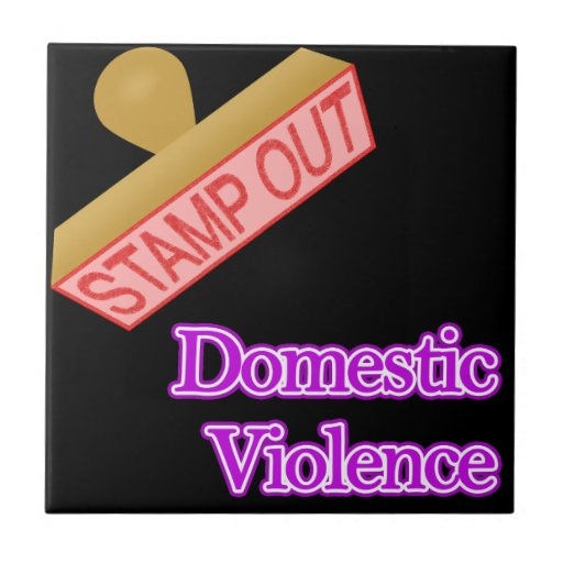 Stamp Out Domestic Violence Tile