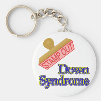 Stamp Out Down Syndrome Basic Round Button Keychain