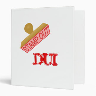 Stamp Out DUI Binder