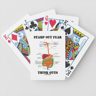 Stamp Out Fear Think Guts (Digestive System) Bicycle Playing Cards