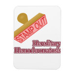 Stamp Out Hereditary Hemochromatosis Rectangle Magnets