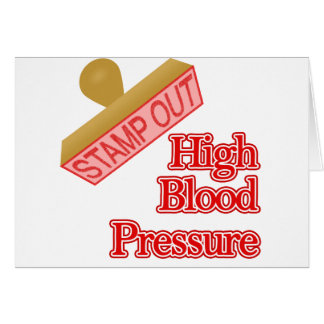 Stamp Out High Blood Pressure Card