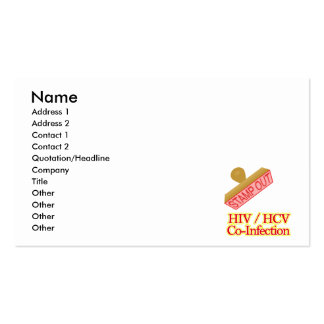 Stamp Out HIV -  HCV Co-Infection Business Card