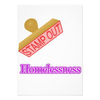 Stamp Out Homelessness Invitations