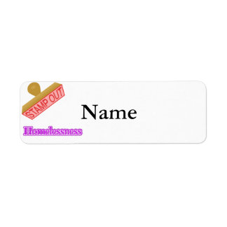 Stamp Out Homelessness Return Address Label