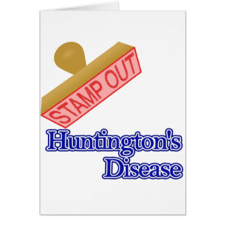 Stamp Out Huntington's Disease Card