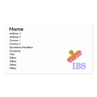 Stamp Out IBS Double-Sided Standard Business Cards (Pack Of 100)