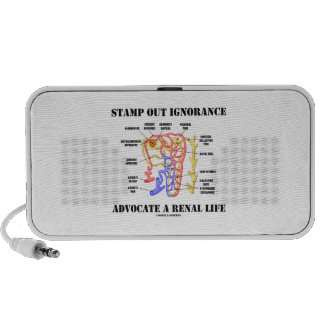 Stamp Out Ignorance Advocate A Renal Life Nephron iPhone Speaker