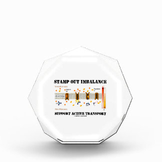 Stamp Out Imbalance Support Active Transport Acrylic Award