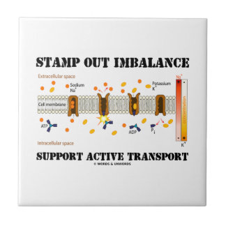 Stamp Out Imbalance Support Active Transport Ceramic Tile