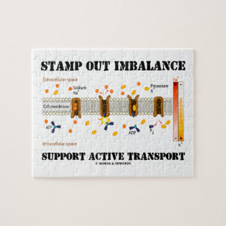 Stamp Out Imbalance Support Active Transport Jigsaw Puzzle