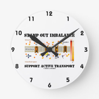 Stamp Out Imbalance Support Active Transport Round Clock