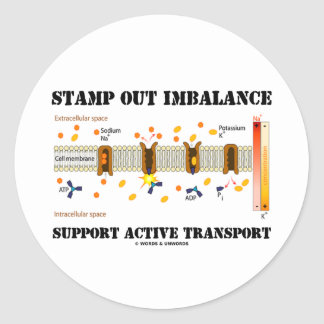 Stamp Out Imbalance Support Active Transport Classic Round Sticker