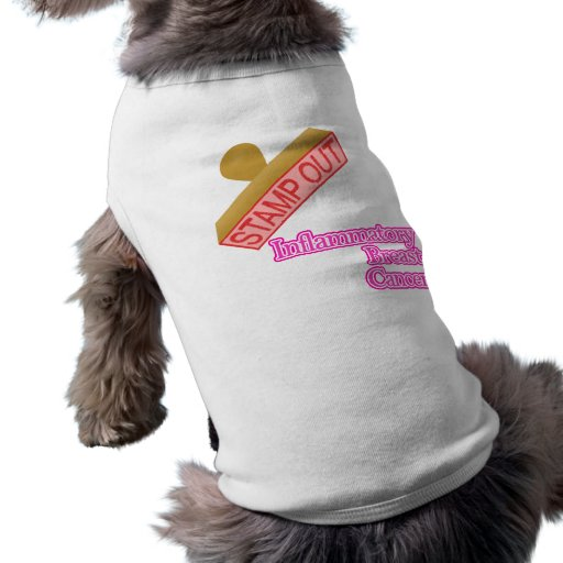 Stamp Out Inflammatory Breast Cancer Doggie T Shirt