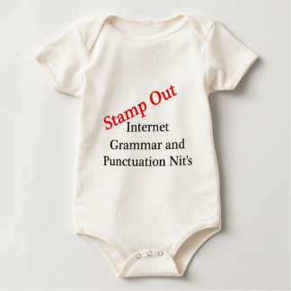 Stamp Out Internet Grammar And Punctuation Nits Baby Bodysuit