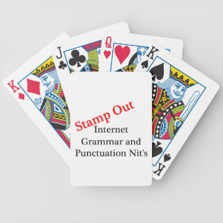 Stamp Out Internet Grammar And Punctuation Nits Bicycle Playing Cards