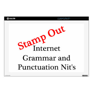 Stamp Out Internet Grammar And Punctuation Nits Decals For Laptops