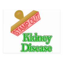 Stamp out Kidney Disease Postcard