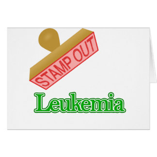 Stamp Out Leukemia Card